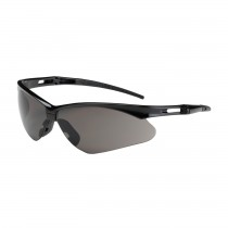 Anser™ Semi-Rimless Safety Glasses with Black Frame, Gray Lens and Anti-Scratch Coating  (#250-AN-10112)