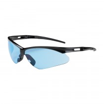 Anser™ Semi-Rimless Safety Glasses with Black Frame, Light Blue Lens and Anti-Scratch Coating  (#250-AN-10113)