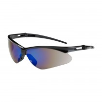 Anser™ Semi-Rimless Safety Glasses with Black Frame, Blue Mirror Lens and Anti-Scratch Coating  (#250-AN-10115)