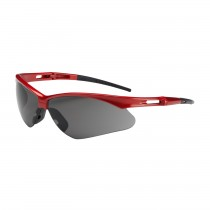 Anser™ Semi-Rimless Safety Glasses with Red Frame, Gray Lens and Anti-Scratch Coating  (#250-AN-10117)