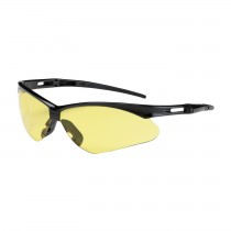 Anser™ Semi-Rimless Safety Glasses with Black Frame, Amber Lens and Anti-Scratch Coating  (#250-AN-10120)