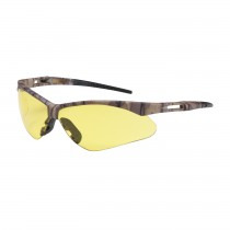 Anser™ Semi-Rimless Safety Glasses with Camouflage Frame, Amber Lens and Anti-Scratch Coating  (#250-AN-10122)