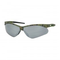 Anser™ Semi-Rimless Safety Glasses with Camouflage Frame, Silver Mirror Lens and Anti-Scratch Coating  (#250-AN-10128)