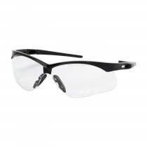 Anser™ Semi-Rimless Safety Readers with Black Frame, Clear Lens and Anti-Scratch / Anti-Fog Coating, 2.00 Diopter  (#250-AN-11120)