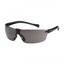 Monteray II™ Rimless Safety Glasses with Black Temple, Gray Lens and Anti-Scratch Coating  (#250-MT-10072)