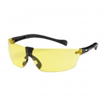 Monteray II™ Rimless Safety Glasses with Black Temple, Amber Lens and Anti-Scratch Coating  (#250-MT-10074)