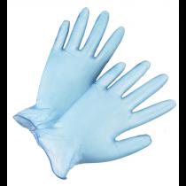 Blue Vinyl Gloves, Lightly Powdered (#2710)