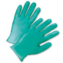 PosiShield Lightly Powdered Green Vinyl Gloves (#2765)