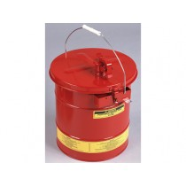 Justrite Portable Mixing Tank, Removable Cover With Flame Arrester, Bonding Tab, 5 Gallon, Red (#27705)