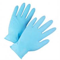 Food Grade Powder Free Blue Nitrile 3 mil Gloves (#2905)