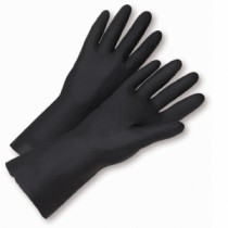 Flock Lined Neoprene Black Gloves (#32212)
