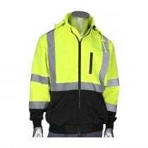 PIP® ANSI Type R Class 3 Full Zip Hooded Sweatshirt with Black Bottom  (#323-1385B)
