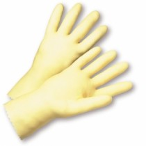 Standard Amber Latex Unlined Gloves (#3343)