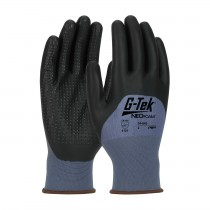 G-Tek® NeoFoam® Seamless Nylon Glove with NeoFoam® Coated Palm, Fingers & Knuckles and Micro Dot Palm - Touchscreen Compatible (#34-643)