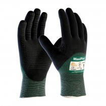 MaxiFlex® Cut™ Seamless Knit Engineered Yarn Glove with Premium Nitrile Coated MicroFoam Grip on Palm, Fingers & Knuckles - Micro Dot Palm (#34-8453)