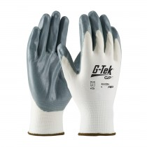 G-Tek® Seamless Knit Nylon Glove with Nitrile Coated Foam Grip on Palm & Fingers - Economy Grade (#34-C234)