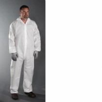 PE Laminate Coverall Hood with Elastic Wrist & Ankle (#3406)