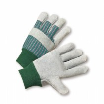 Select Split Cowhide Palm Knuckle Strap Gloves, Women's (#350L-EA)