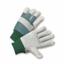 Select Split Cowhide Palm Knuckle Strap Gloves, Women's (#350L-EA)