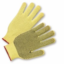 PVC Dotted on One Side 100% Kevlar Gloves, Men's (#35KD)