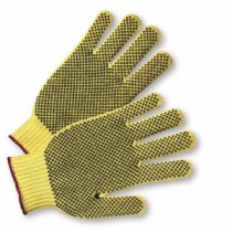 PVC Dotted on Both Sides Kevlar Gloves, Men's (#35KDEBS)