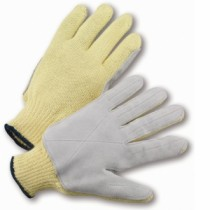 100% Kevlar Leather Palm Gloves (#35KJYD)