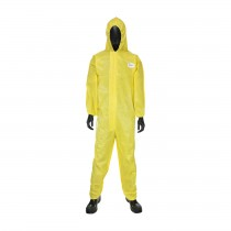 PosiUB Plus Yellow Coverall w/Hood (#3678B)