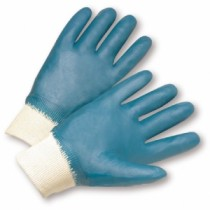 Fully Coated Jersey Lined Nitrile Knit Wrist Gloves (#4000)