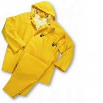 35mil PVC Over Polyester 3-Piece Rainsuit - Flame Resistant (#4035FR)