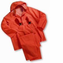 Orange 35mil 3-Piece PVC Rainsuit (#4035OR)