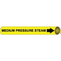Medium Pressure Steam Precoiled Pipe Marker (#4072N)