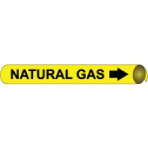 Natural Gas Precoiled Pipe Marker (#4073N)