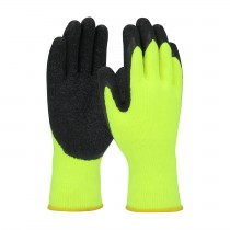 PIP® Economy Hi-Vis Seamless Knit Acrylic Glove with Latex Coated Crinkle Grip on Palm & Fingers  (#41-1425)