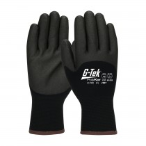 G-Tek® PolyKor® Seamless Knit PolyKor® Blended Glove with Acrylic Lining and Double-Dipped PVC Coated Foam Grip on Palm, Fingers & Knuckles  (#41-7322)