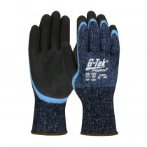 G-Tek® PolyKor® Seamless Knit Single-Layer PolyKor® / Acrylic Blended Glove with Double-Dipped Latex Coated MicroSurface Grip on Palm & Fingers  (#41-8014)