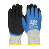 G-Tek® PolyKor® Seamless Knit Single-Layer PolyKor® / Acrylic Blended Glove with Double-Dipped Latex Coated MicroSurface Grip on Full Hand  (#41-8035)