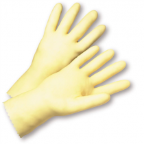Economy Unlined Amber Latex Gloves (#4343)