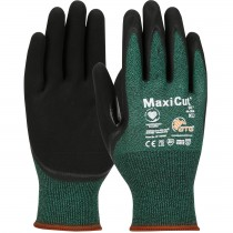 MaxiCut® Oil Seamless Knit Engineered Yarn Glove with Nitrile Coated MicroFoam Grip on Palm & Fingers  (#44-304)