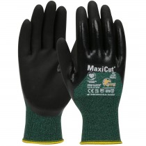 MaxiCut® Oil Seamless Knit Engineered Yarn Glove with Nitrile Coated MicroFoam Grip on Palm, Fingers & Knuckles  (#44-305)