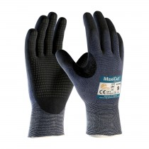 MaxiCut® Ultra DT™ Seamless Knit Engineered Yarn Glove with Premium Nitrile Coated MicroFoam Grip on Palm & Fingers - Micro Dot Palm (#44-3445)