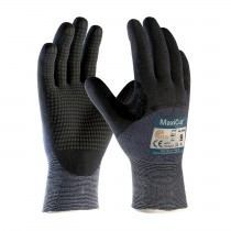 MaxiCut® Ultra DT™ Seamless Knit Engineered Yarn Glove with Premium Nitrile Coated MicroFoam Grip on Palm, Fingers & Knuckles - Micro Dot Palm (#44-3455)