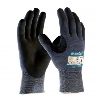 MaxiCut® Ultra™ Seamless Knit Engineered Yarn Glove with Premium Nitrile Coated MicroFoam Grip on Palm & Fingers (#44-3745)