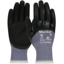 MaxiCut® Oil Seamless Knit Engineered Yarn Glove with Nitrile Coated MicroFoam Grip on Palm, Fingers & Knuckles  (#44-505)