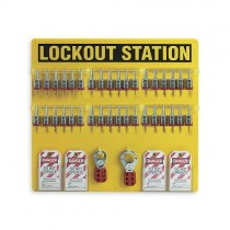 "Lockout Station, 36-Lock Board w/3/4"" Steel Padlocks (#51196)"