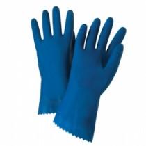 "Premium Unlined Blue Latex Gloves, 18 mil, 12"" Length (#52L100)"