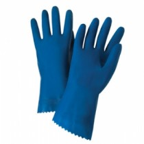 "Premium Unlined Blue Latex Gloves, 18 mil, 12"" Length (#52L101)"