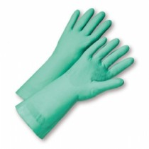 "Unlined Green Nitrile Gloves, 11 mil, 13"" Length (#52N100)"