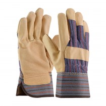 Posi-Therm® Pigskin Leather Palm Glove with Fabric Back & Positherm® Lining - Safety Cuff  (#5555)