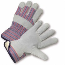 Posi-Therm® Split Cowhide Leather Palm Glove with Fabric Back & Posi-Therm® - Rubberized Safety Cuff  (#5558P)