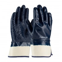 ArmorGrip® Nitrile Dipped Glove with Terry Cloth Liner and Heavy Weight Rough Grip on Full Hand - Plasticized Safety Cuff  (#56-3147)
